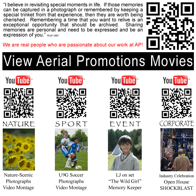 Aerial Promotions Youtube Video QR codes